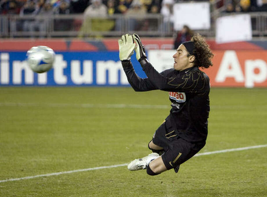 Goalkeeper:Guillermo Ochoa Club: America Photo: Bob Levey, AP