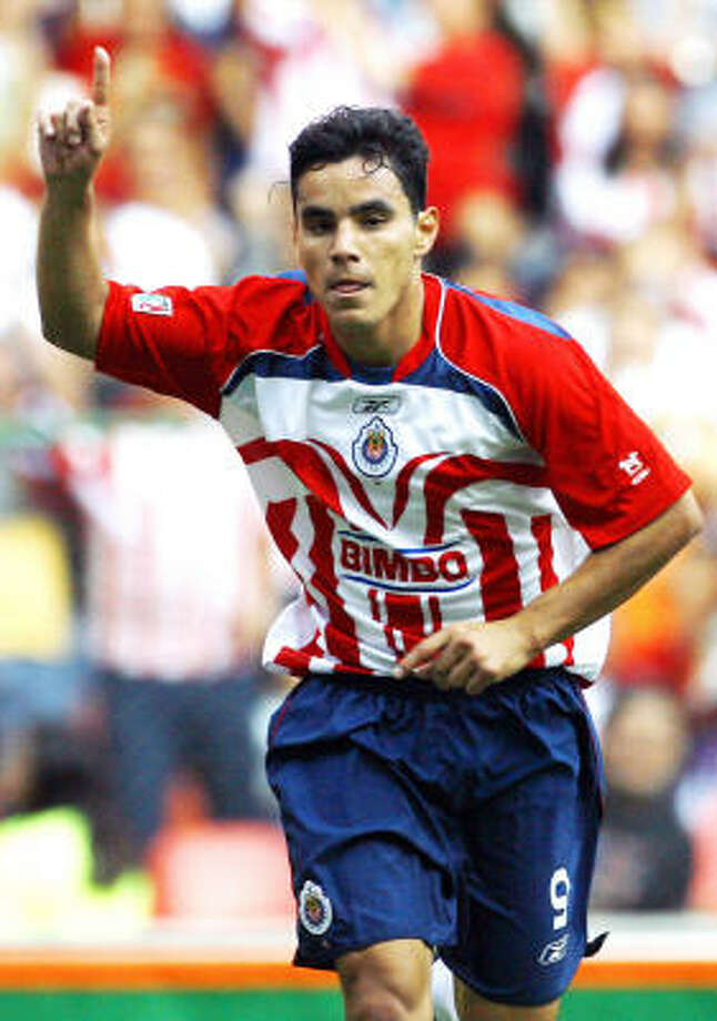 Forward: Omar Bravo Club: Deportivo La Coruña Photo: Claudio Cruz, AP