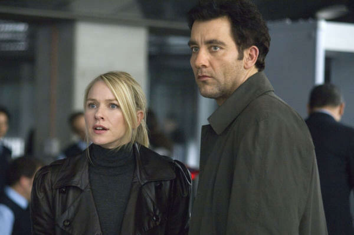 Naomi Watts and Clive Owen in The International, an Interpol agent attempts to expose a high-profile financial institution's role in an international arms dealing ring.