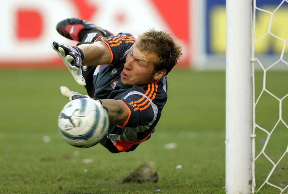Goalkeeper:Brad Guzan Club: Aston Villa (England) Career Caps: 11 Guzan's play at Chivas USA earned him a transfer to England and call-ups to the U.S. national team. Photo: CHRIS CARLSON, AP