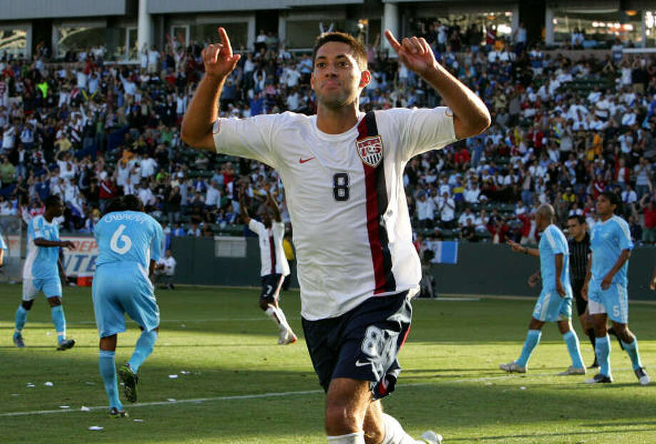 Midfielder:Clint Dempsey Club: Fulham FC (England) Career Caps: 46 The attack-minded Texan from Nacogdoches has scored 13 times for the national team, including this one against Guatemala. Photo: Stephen Dunn, Getty Images