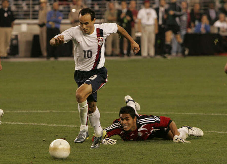 Forward: Landon Donovan Club: Bayern Munich (Germany) Career Caps: 105 Donovan, perhaps the greatest player the U.S. has produced, has 37 goals for his country. Photo: Ross D. Franklin, AP