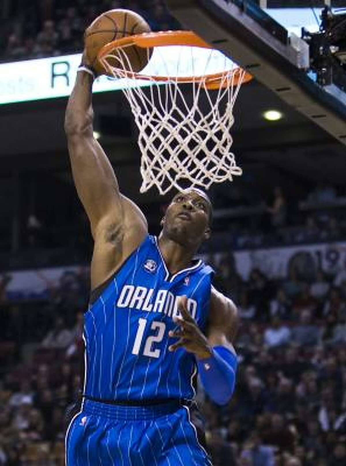 3 - ORLANDO MAGIC - (Last wk: 4) - 37-12 - The Magic served notice that they are not just a trendy darkhorse pick with a whipping of the Cavaliers last week. They even managed to wind up with more All-Stars - Dwight Howard (pictured), Rashard Lewis and Jameer Nelson - than anybody else in the league.