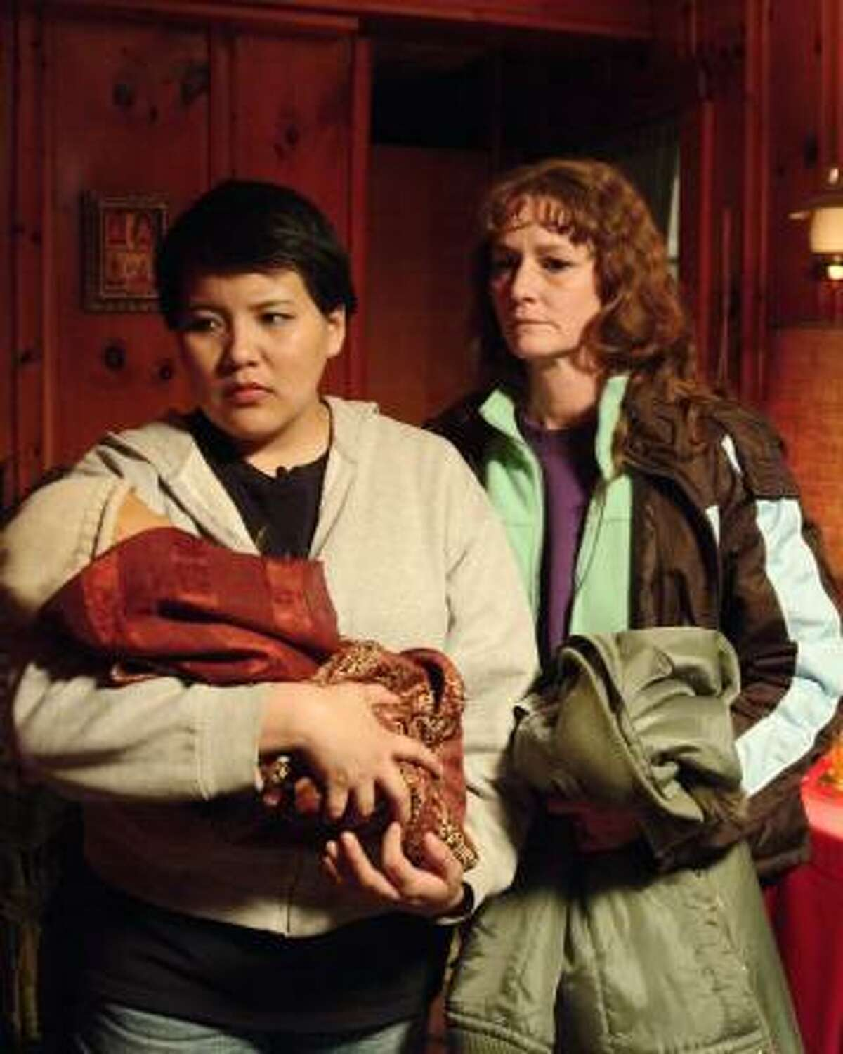 Misty Upham, left, and Melissa Leo Frozen River, which is about two single mothers faced with desperate circumstances who are drawn into the world of border smuggling.