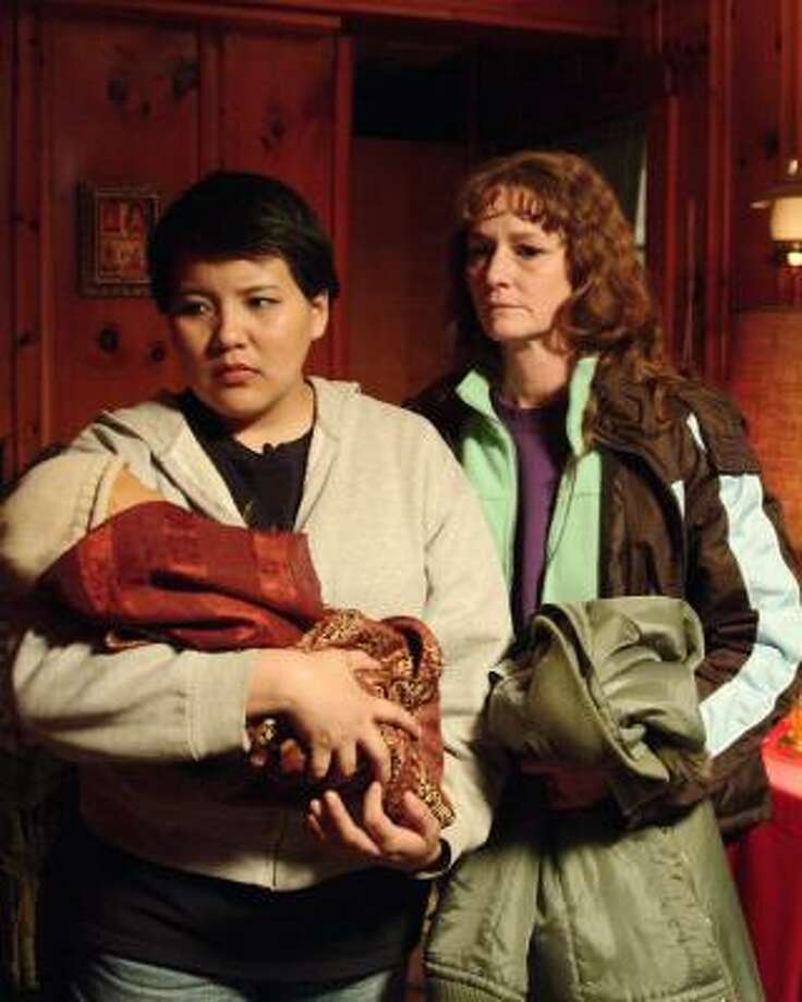 Misty Upham, left, and Melissa Leo Frozen River, which is about two single mothers faced with desperate circumstances who are drawn into the world of border smuggling. Photo: Jory Sutton, AP