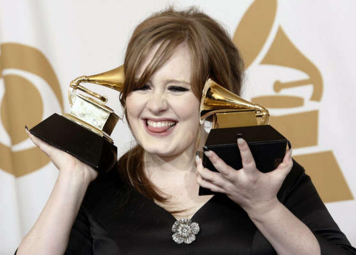 Adele, ganadora del Grammy a mejor cantante pop.