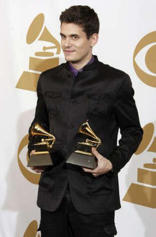 John Mayer, ganador de dos megáfonos. Photo: Matt Sayles, AP