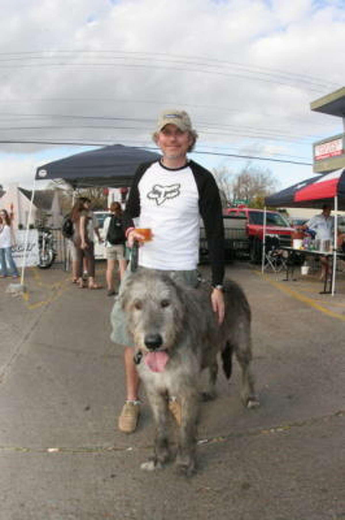 Richard Apthorpe and his dog Texas