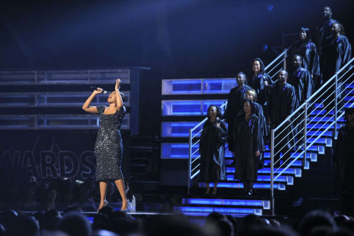 Jennifer Hudson performs at the 51st Annual Grammy Awards.
