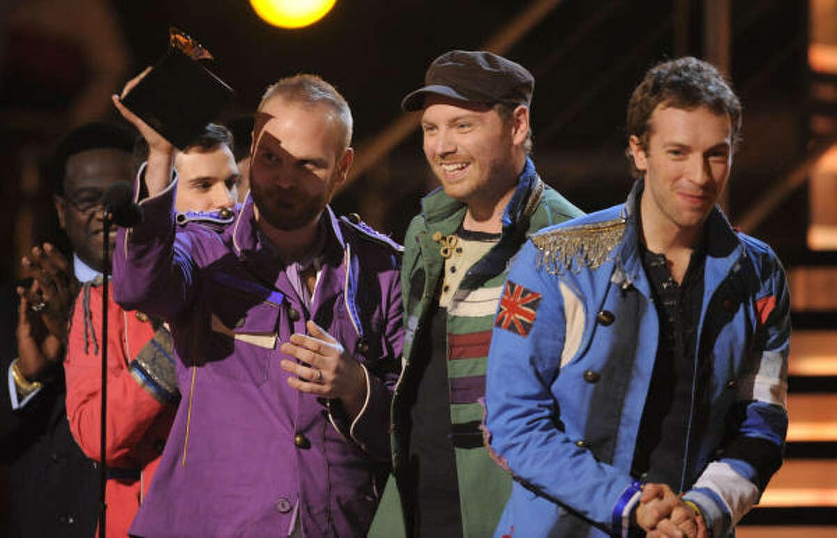 Best rock album: Coldplay for ìViva La Vidaî