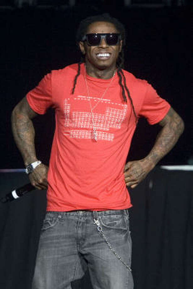 Lil Wayne won best rap album for Tha Carter III, best rap solo performance and best rap song for Lollipop Photo: Chris Young, AP