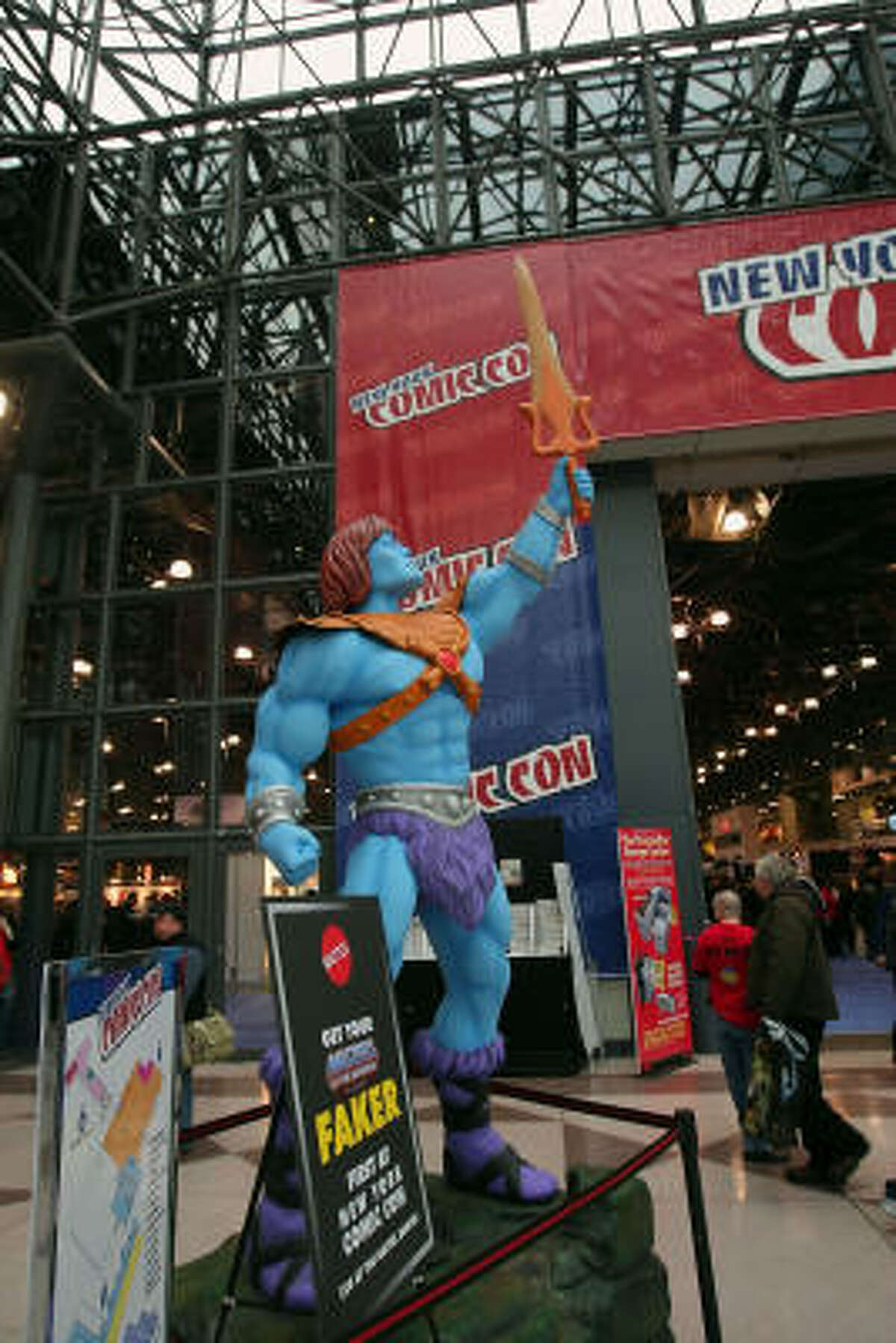 A powerful display at the first day of the 2009 New York Comic Con at the Jacob Javits Center on Saturday, Feb. 6, 2009, in New York City.
