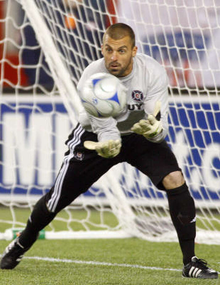 Goalkeeper:Jon Busch Club: Chicago Fire Career Caps: Photo: Stew Milne, AP