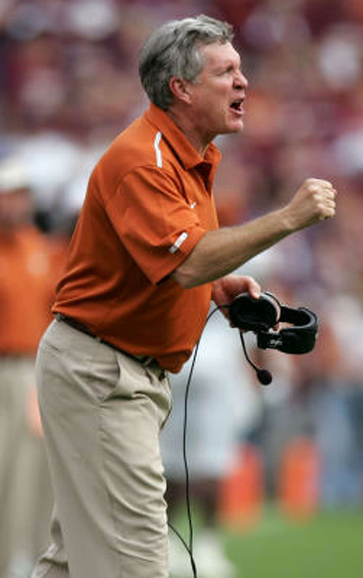 With 11 seasons at Texas, Mack Brown is the dean of Big 12 coaches. Brown says he's not ready to step down with eight years remaining on a 10-year contract that runs through 2016. But he warns,