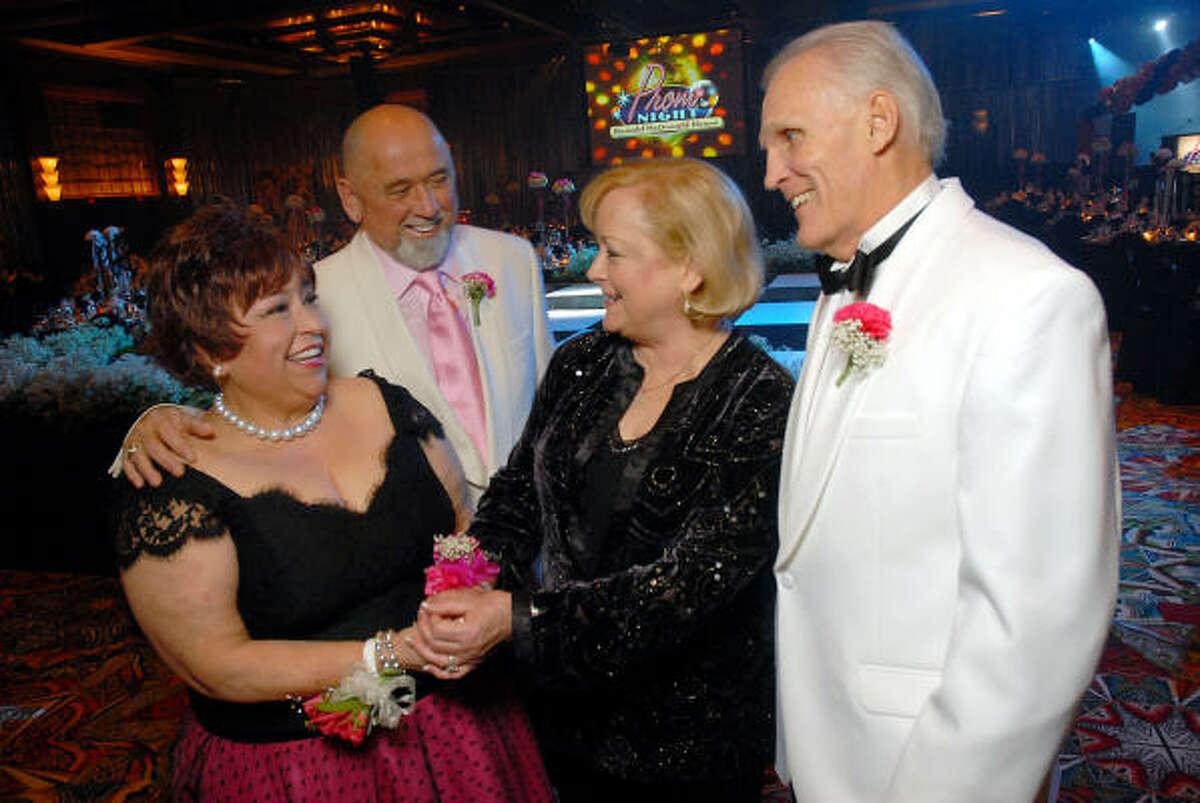 Trini Mendenhall Sosa, from left, and Frank Sosa with Jo and Randy Howard at the Ronald McDonald House Gala.