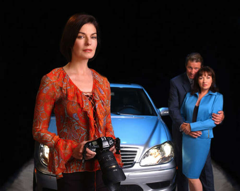 The case inspired a TV movie, Suburban Madness, starring Sela Ward, left, as a private investigator; Elizabeth Pena, as Harris, and Brett Cullen, as David Harris. Photo: CBS