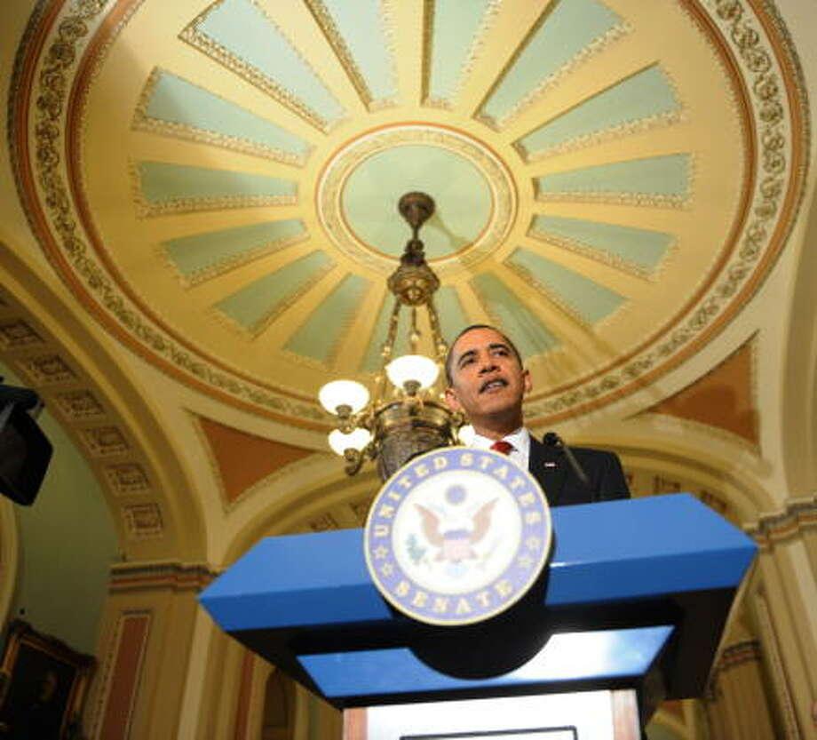 Mientras el Congreso debate la aprobación del paquete de estímulo económico del presidente Barack Obama, Houston se prepara para conseguir una parte del pastel. Photo: TIM SLOAN, AFP/Getty Images