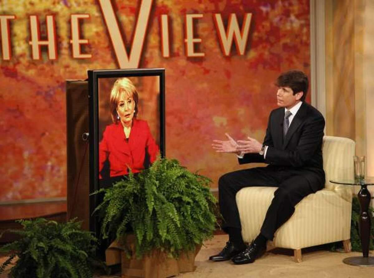 In this image released by ABC, Illinois Gov. Rod Blagojevich speaks during an interview with Barbara Walters Monday, Jan. 26, 2009 on