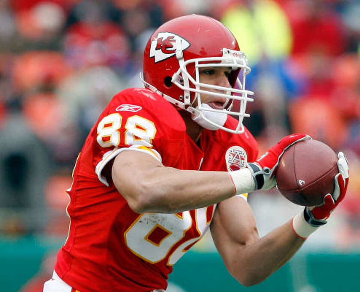 31 (tied). Kansas City Chiefs Odds: 100-1 2008 regular-season record: 2-14 Impact player: tight end Tony Gonzalez