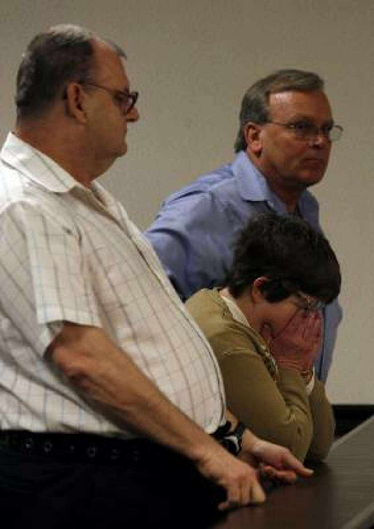 Family members of Kimberly Dawn Trenor react to her conviction Monday in Galveston.