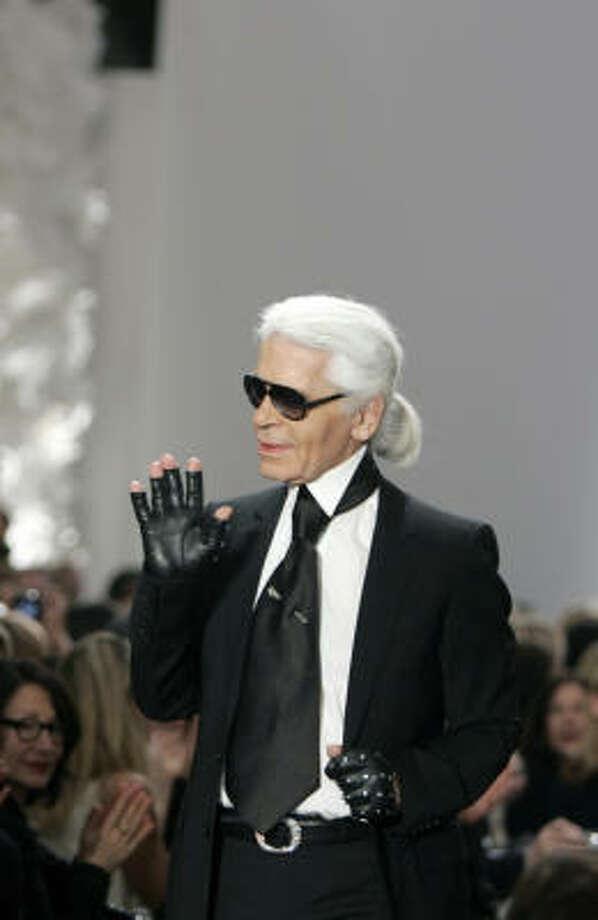 Karl Lagerfeld Photo: REMY DE LA MAUVINIERE, AP
