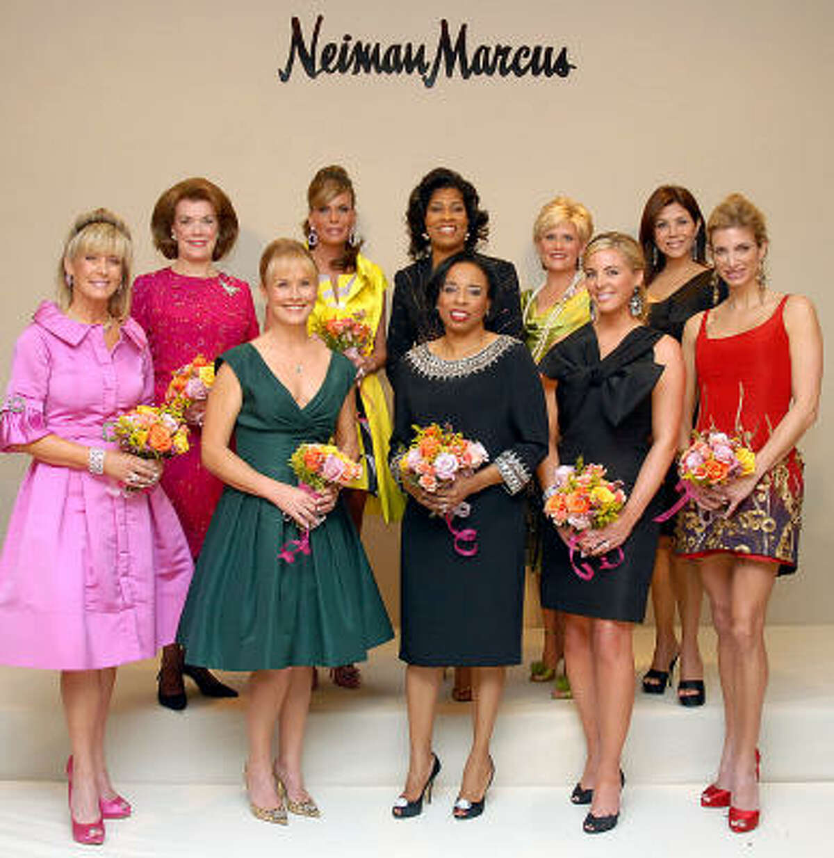The Houston Chronicle's Best Dressed. Front row from left: Sheridan Williams, Randa Williams, Phyllis Williams, Kristen Nix and Melissa Mithoff. Back row from left: Jeanie Kilroy, Debra Grierson, Deidra Fontaine, Kelli Blanton and Ericka Bagwell.