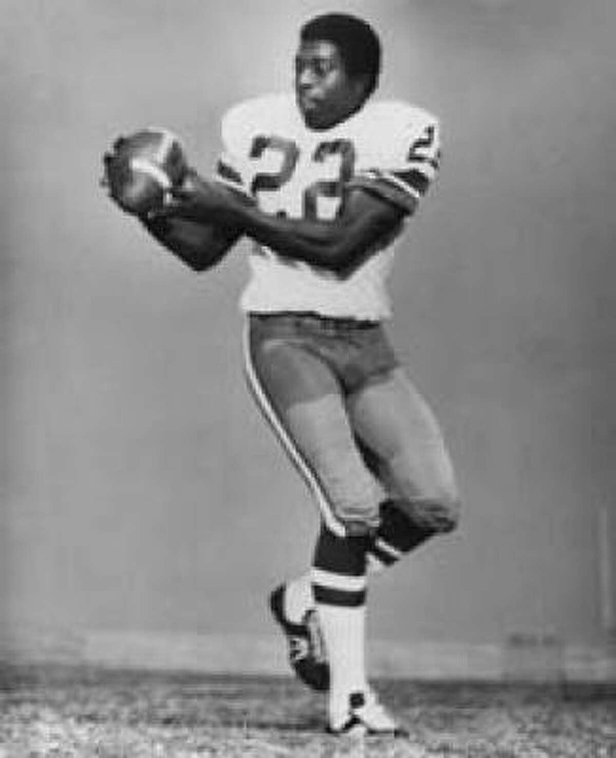 Bob Hayes - Wide Receiver - 1965-1974 Dallas Cowboys, 1974 San Francisco 49ers. It took Hayes, who was also an Olympic gold medal sprinter, 29 years to get into the Hall. He died in September 2002.