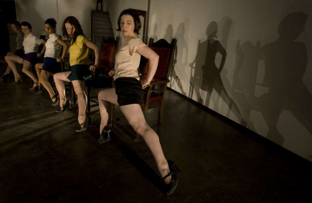 Jenny Peterson, front, and four other dancers from Seattle perform a scene from Pat Graney's House of Mind at DiverseWorks.