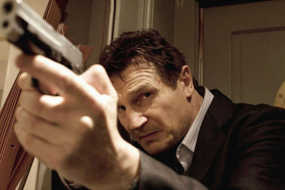 Jan. 30:Liam Neeson plays a retired spy who leaves a trail of dead bodies as he searches for his daughter's abductors in Taken. Photo: Stephanie Branchu, 20th Century Fox