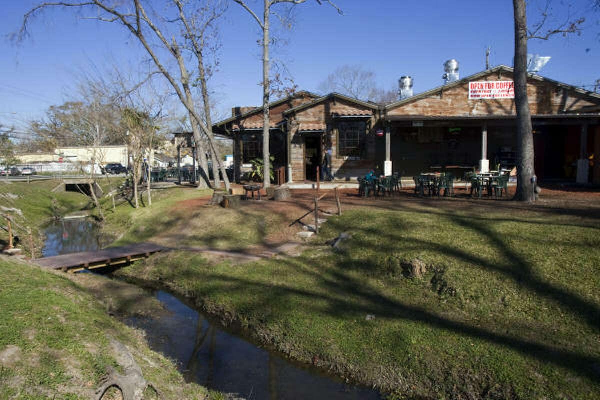 A small creek, known as Turkey Gully, runs along the side of Cedar Creek restaurant.