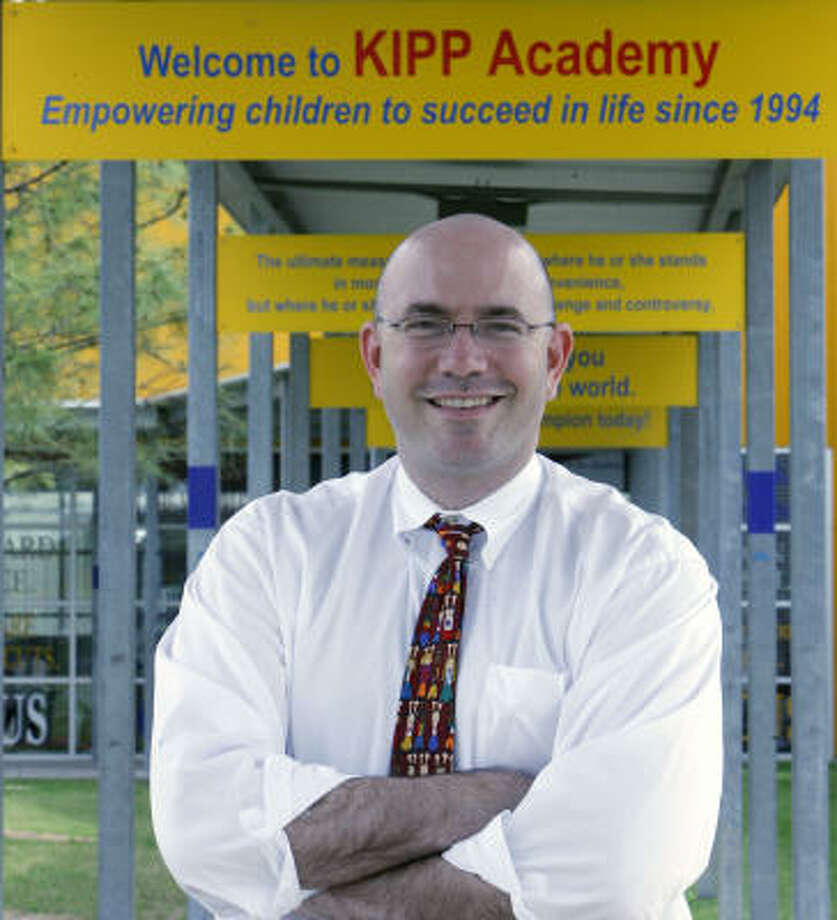 For Mike Feinberg, who co-founded KIPP schools in Houston, the dream has come full circle. His schools are designed to better prepare students for college, and they work hard at getting all students into colleges. Some 90 percent have gone to college and his earliest students have just started graduating. His newest good news is that three of his early pupils have been accepted into Teach for America. Photo: Steve Campbell, Houston Chronicle