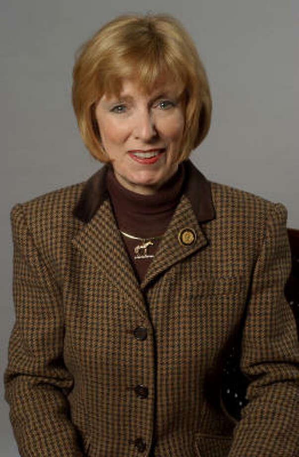 Debbie Riddle (republicana), representante por el Distrito 150, situado al noroeste de Houston, donde un 14 por ciento  de la población es latino. Propone suspender licencias a negocios que contraten indocumentados. Photo: DEBORAH CANNON, AP
