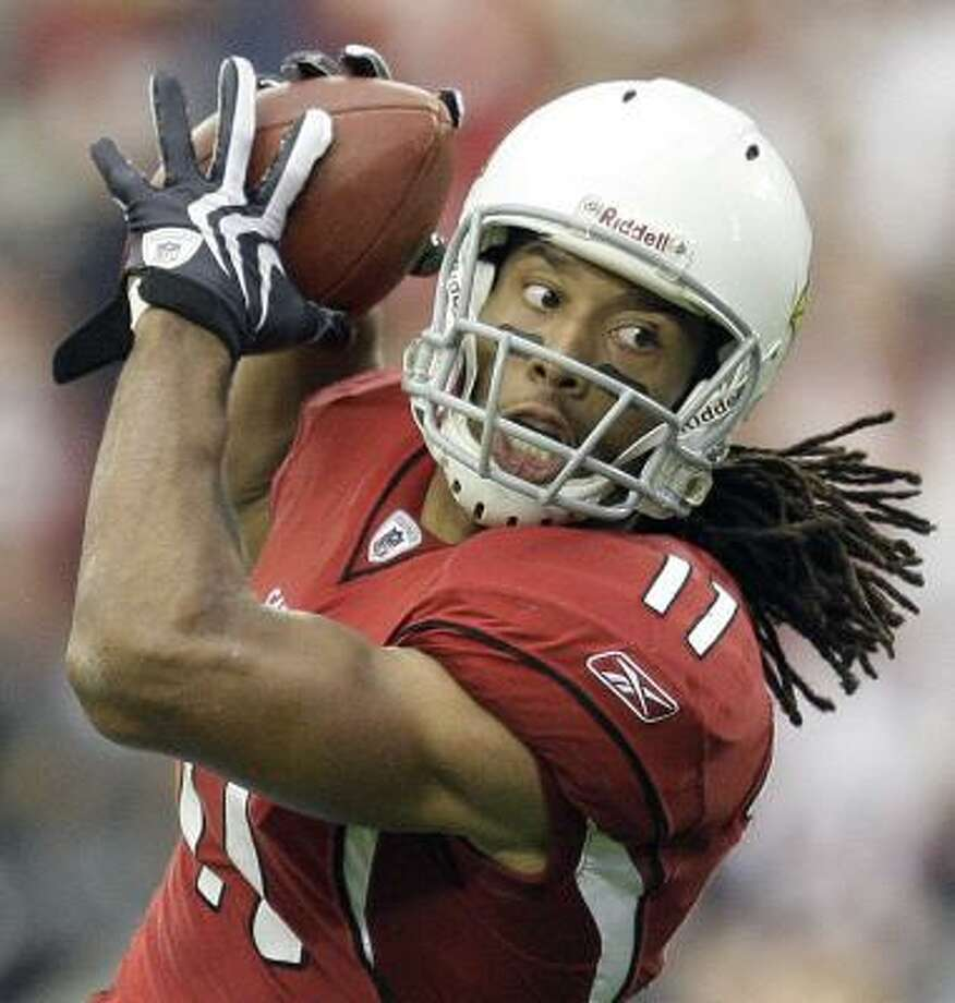 Arizona Cardinals Larry Fitzgerald 119 catches, 1850 yards, 17 touchdowns Photo: Matt York, AP