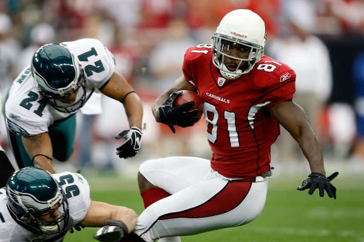 Arizona Cardinals Anquan Boldin 95 catches, 1144 yards, 12 touchdowns