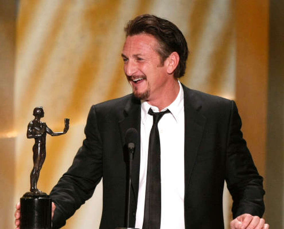 Actor in a movie leading role: Sean Penn, Milk.