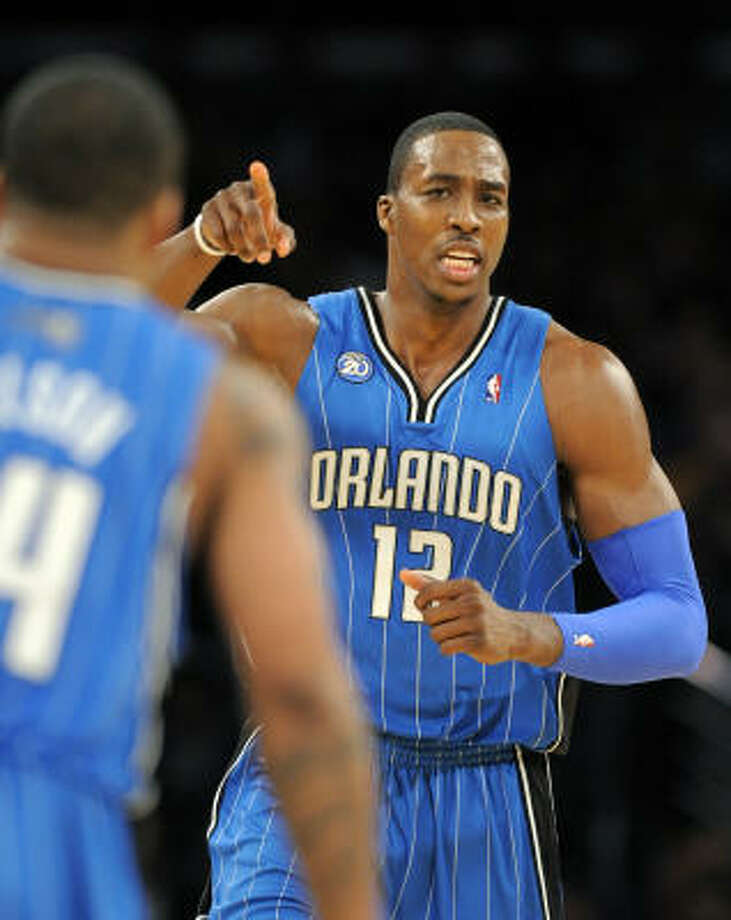 1 - ORLANDO MAGIC - (Last wk: 3) - 33-9 -Raise your hand if you figured the Magic could go on a four-game through San Antonio, Sacramento, LA and Denver and return home without a loss? They also play better defense than most realize and could be a surprise survivor in June. Photo: Mark J. Terrill, AP