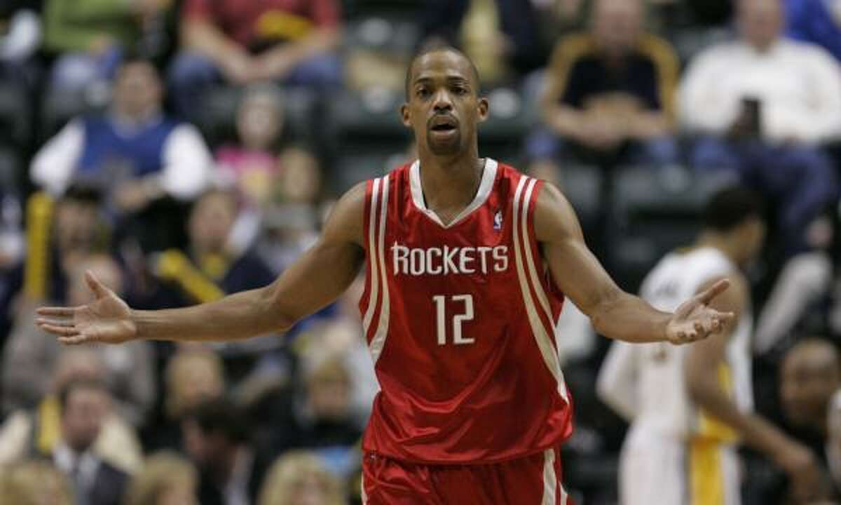 Rafer Alston shows his frustration after being called for a foul in the fourth quarter.