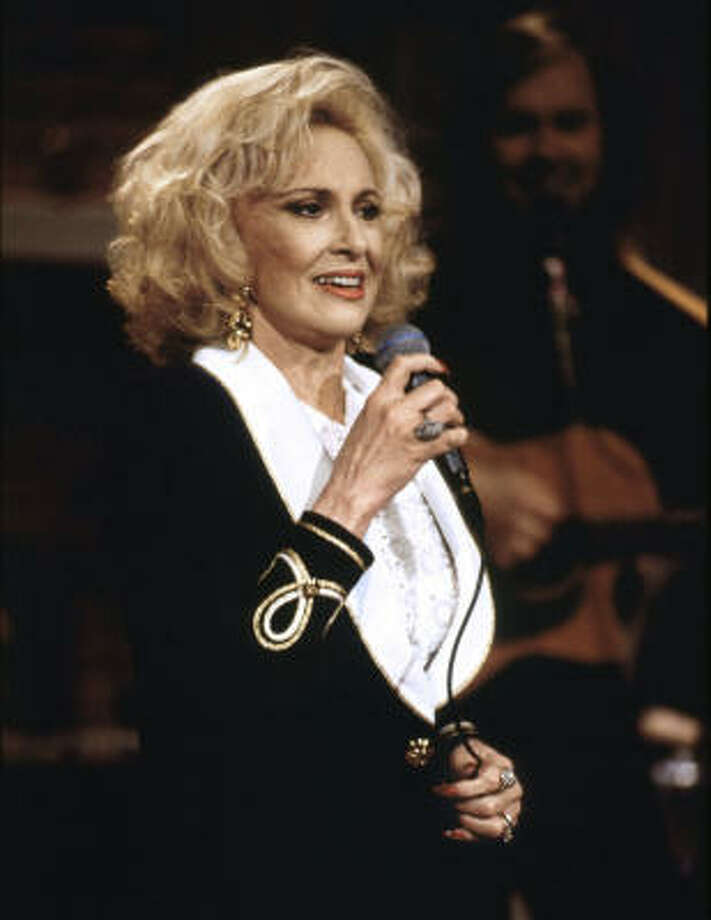 "Tammy Wynette teamed with KLF on ""Justified And Ancient."" Insert jokes about her age here___. Photo: JIM HAGANS, AP"