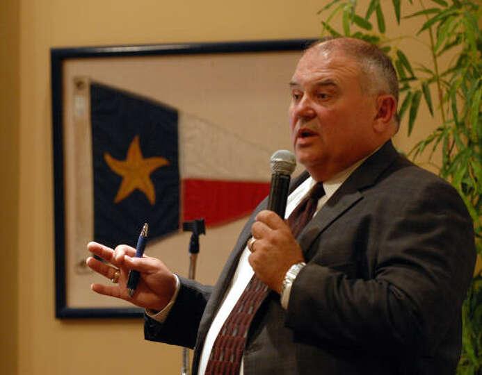 La porte isd superintendent lloyd graham spoke about the for La porte isd