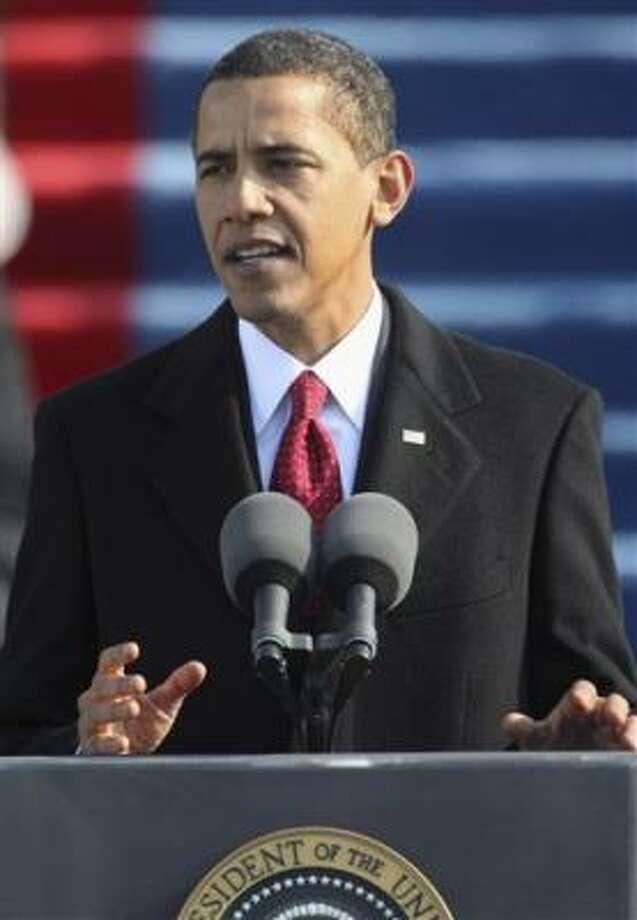 Barack Obama ofrece su primer discurso como presidente de Estados Unidos. Photo: Ron Edmonds, AP