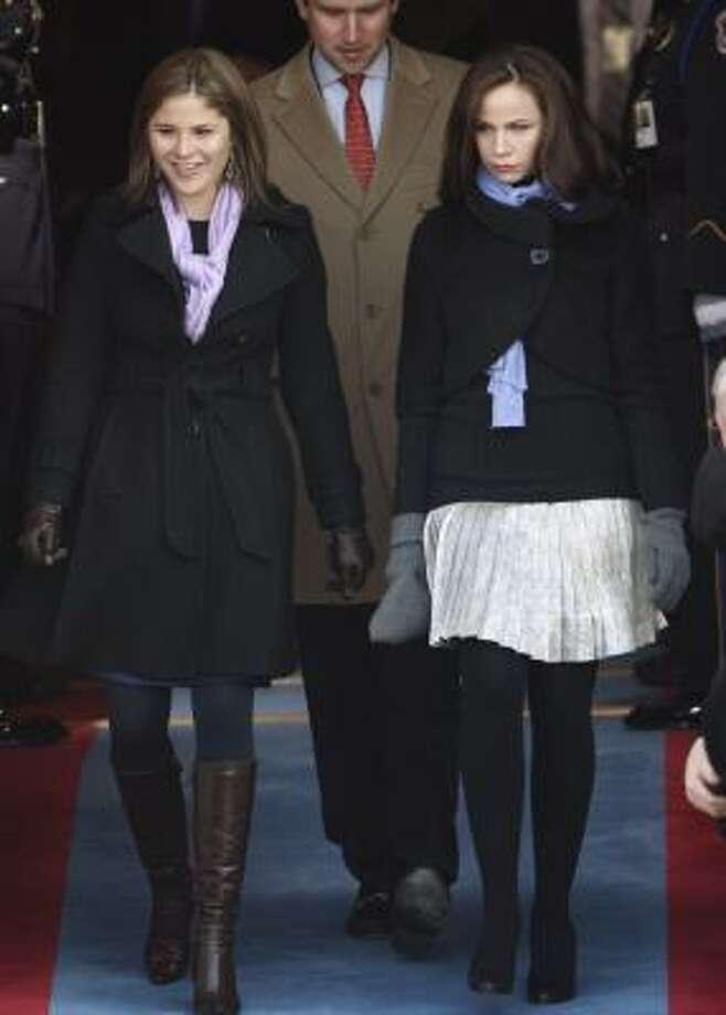 "Jenna Bush Hagar, codename ""Turquoise"" and twin sister Barbara Pierce Bush, codename ""Twinkle"" Photo: Ron Edmonds, AP"