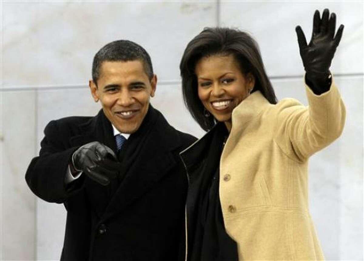 Barack Obama y su esposa Michelle Obama llegan a la celebración We Are One: Opening Inaugural Celebration at the Lincoln Memorial el domingo 18 en Washington.