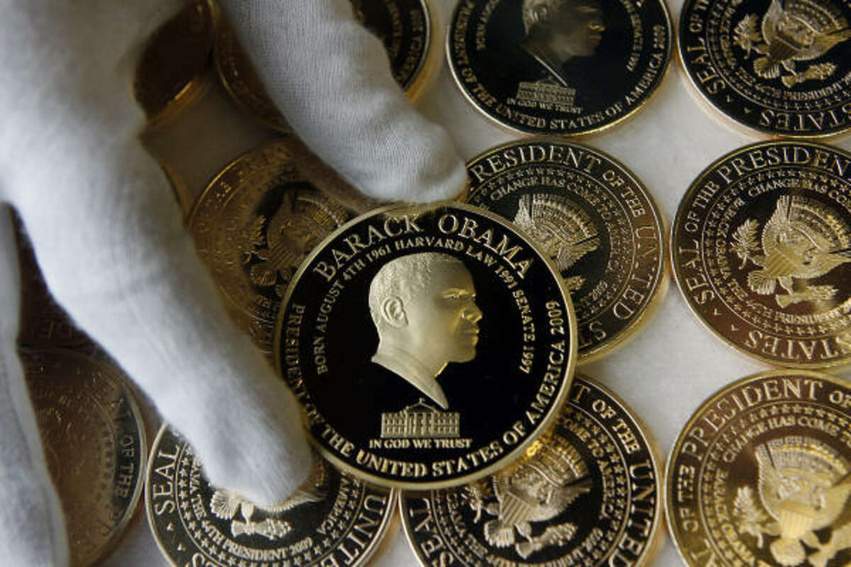 The Birmingham Mint factory in Birmingham, England, issued a commemorative gold plated coin worth $40 U.S.
