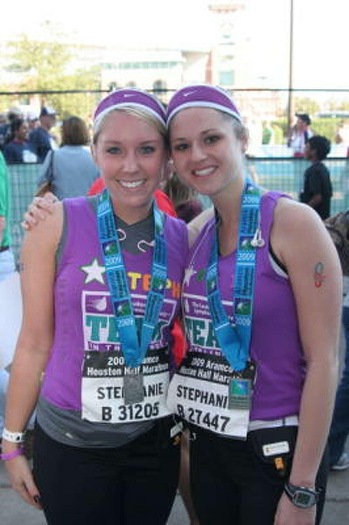 Stephanie Lubojacky, left, and Stephanie Smith