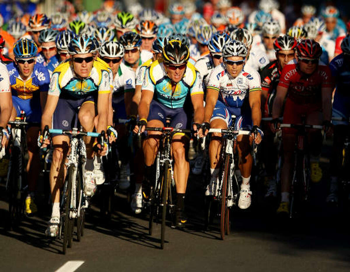 Lance Armstrong finished 64th among 133 riders in a 30-mile criterium in downtown Adelaide.