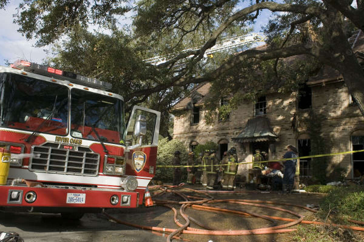 Firefighters were on the scene well into late morning on Saturday.