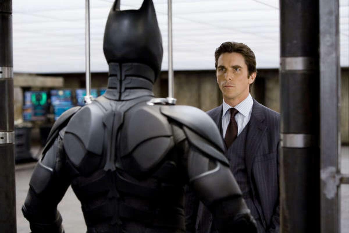 Christian Bale stars in The Dark Knight.