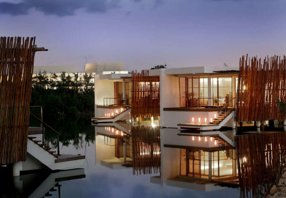 Rooms along the lagoon at Rosewood Mayakoba include plenty of windows. The resort is in the Riviera Maya on the Yucatan coast of Mexico. Photo: Rosewood Hotels & Resorts