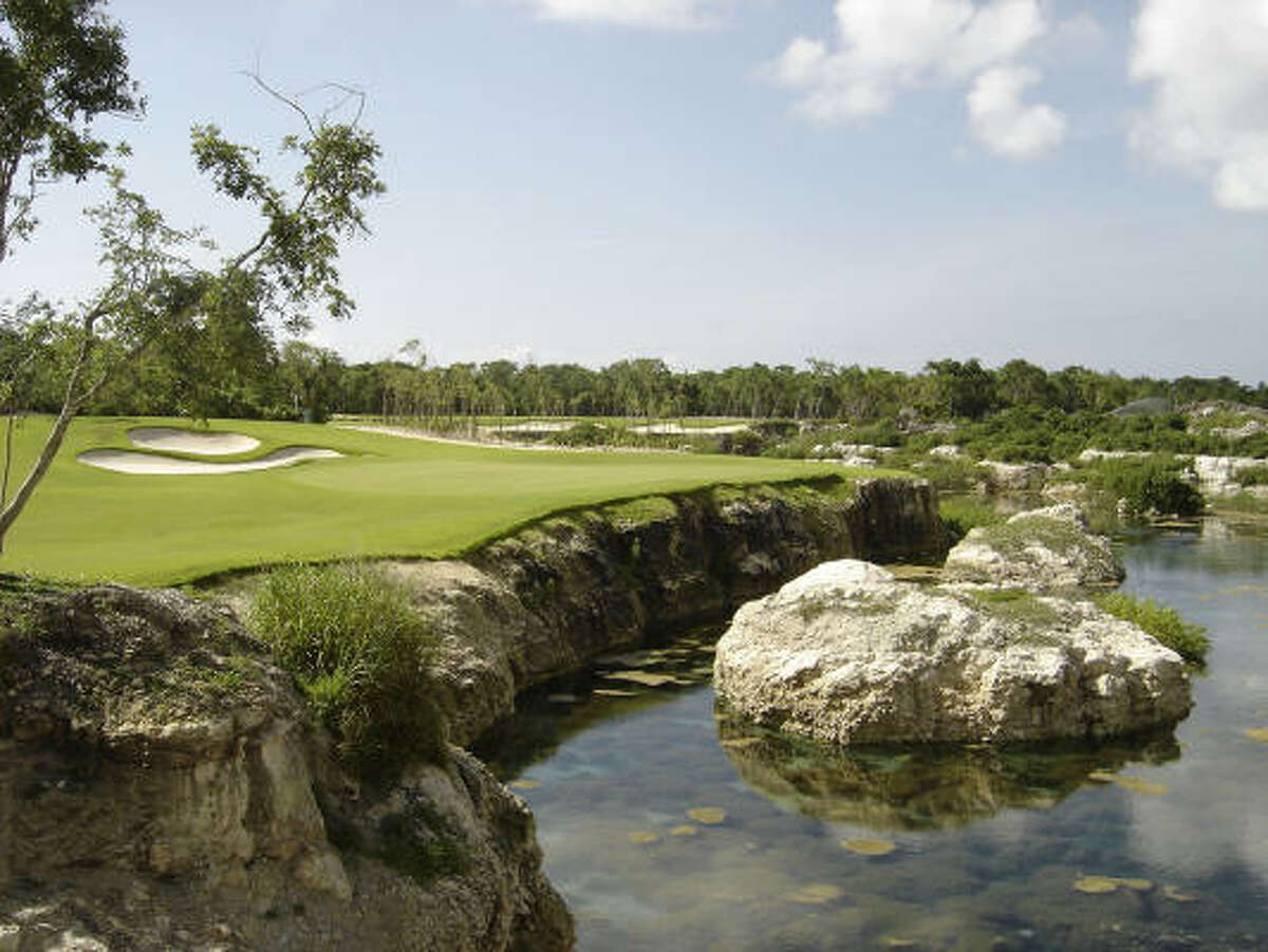Mayakoba's four hotels share the use of the lagoon-laced El Camaleon golf course, which hosts a PGA tournament next month.