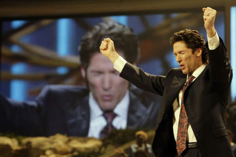 Just flip through the channels day or night and you'll likely find Houston's Joel Osteen. Photo: Eric Kayne, Houston Chronicle